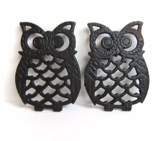 owl home decor accessories black owl trivets owl decor home accessories vintage owl 11686