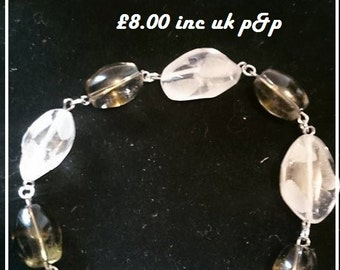 handmade chunky mixed quartz bracelet