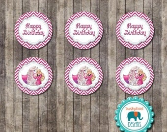 INSTANT DOWNLOAD-  Barbie Horse Cupcake Toppers (Barbie Party Pack)