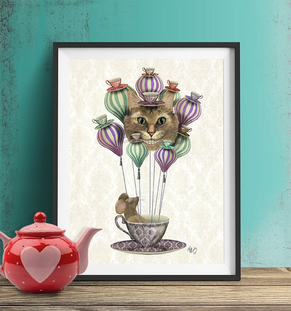 Alice In Wonderland Tea Party Alice In Wonderland Print Home Decor