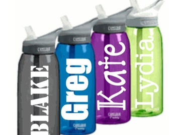 "6""x3"" Name Decal for Water Bottle...or anything you want to personalize!"