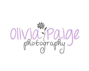 Custom Daisy Logo, Customizable for Any Business, Premade Photography Logo