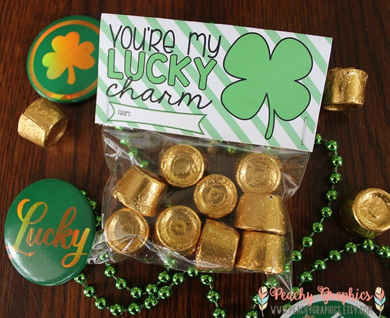 St Patricks Day Treat Bag Toppers Printable St Pattys Day