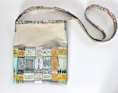 Custom OOAK Crossbody Bag // Messenger Bag // Hand-Painted Custom Bookshelf Purse // E-Book Carrier  // Travel Purse // Book Lover Gift