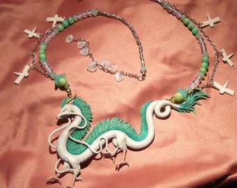"Spirited Away: Haku the Dragon - Collar - ""Made to Order"""