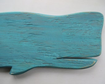 Whale Coastal Wall Hanging, Made from Reclaimed Wood