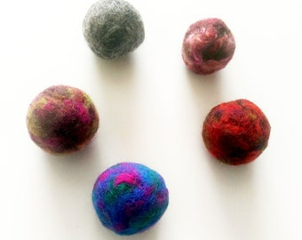 Bouncy Balls, Felted Wool Balls, Wool Cat Toys, Marble Wool Ball, Felted Bouncy Ball, Catnip Ball, Best Cat Toys, Ball Cat Toy, Kitten Balls