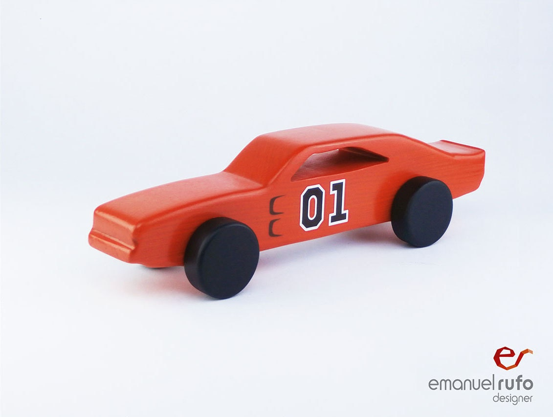 Orange Wooden Toy Wooden Toy Car Boy Gift Classic American