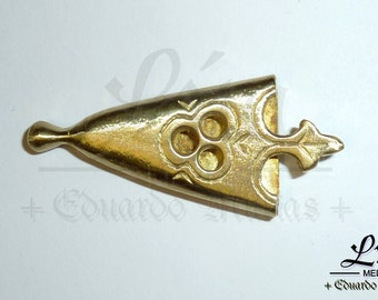 Brass strap end for re-enactment belts
