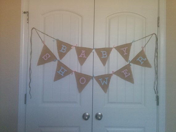 baby shower burlap banner burlap bunting bunting banner