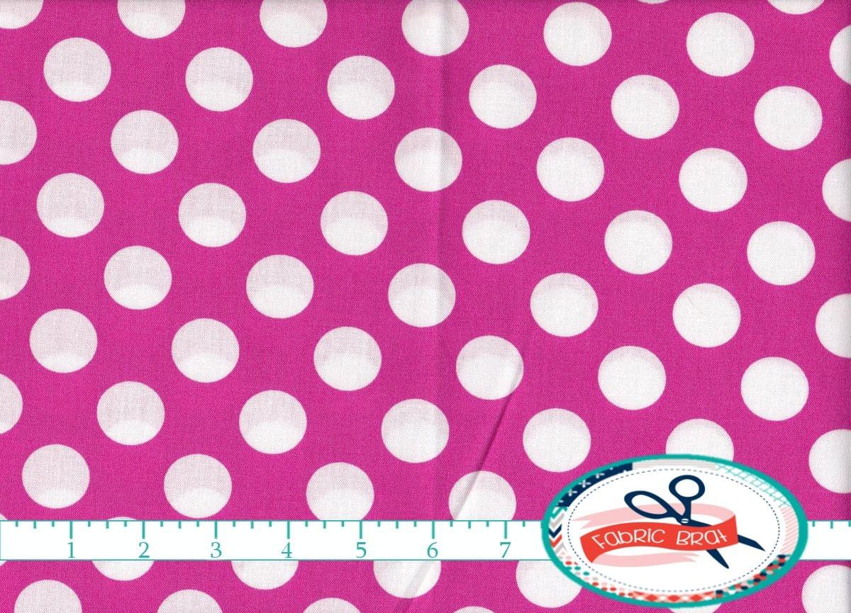 pink polka dot fabric by the yard fat quarter big dot fabric. Black Bedroom Furniture Sets. Home Design Ideas
