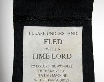 Fled with a Time Lord Bag (with shoulder strap)