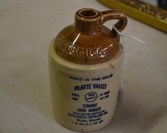 SALE! Small Vintage McCormick Pottery Whiskey Jug