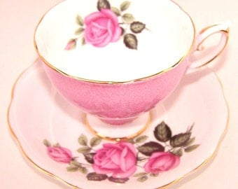 Vintage Royal Standard Rose Pattern Teacup & Saucer