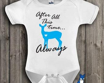 Baby bodysuit-Baby Clothing-Always Doe-Potter-Baby Shower Gift-Baby clothes-Custom Clothing-BlueFoxApparel *210