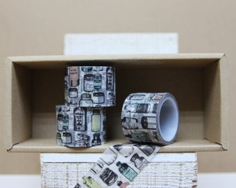 Washi Tape - vintage bottles - P40