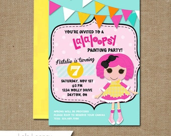 Custom Self Print Birthday Invitations: Lala Loopsy, Girl, Party