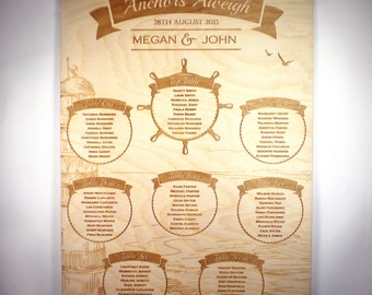 Nautical Wedding Seating Plan
