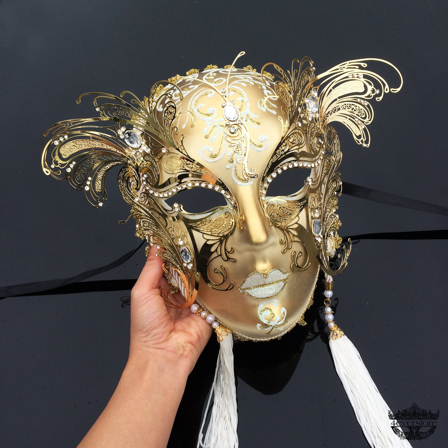 Wall Decoration With Masks : Masquerade mask wall decor ball gold