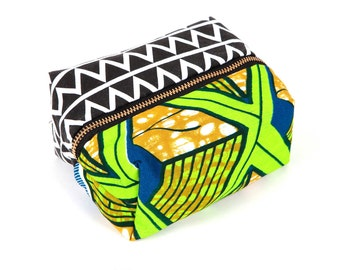 African Tribal Print Makeup Box Bag