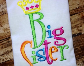 Big Sister Embroidered Shirt