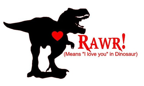 Rawr Means I Love You T Shirt