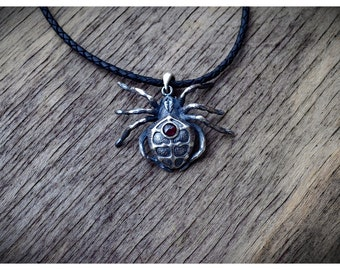 Spider Necklace  Charm Pendant Widow Spider Jewelry