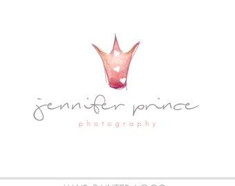 CLEARANCE - Watercolor Business Logo, watercolor design, photography, watermark, painted, logo, maternity logo, crown, photography, business