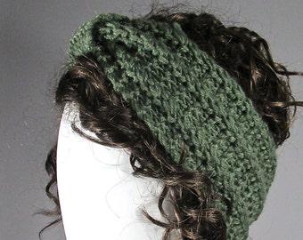 Knitted headband , green headband , Earwarmer, Head Band, Chunky  knitted Headband