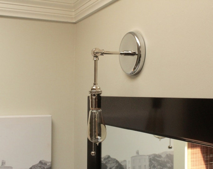 Vanity Light Bar With Pull Chain : Wall Sconces - IlluminateVintage
