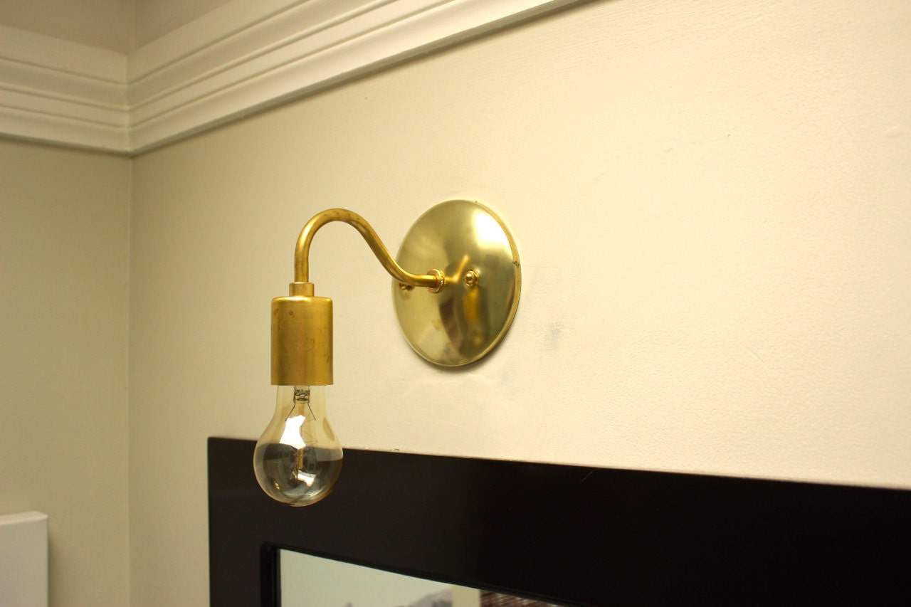 Gold Industrial Wall Lights : Free Shipping! Wall Sconce Vanity Gold Mid Century Industrial Art Light UL Listed
