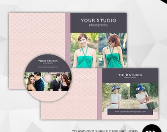 Cd/Dvd Single Case & Disc Label Template for Photographer - INSTANT DOWNLOAD - CD002