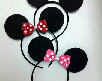 SALE Minnie Mouse Ears, Mickey Mouse Ears, Minnie Mouse Headband, Mickey Mouse Headband; Minnie Birthday Party; Mickey Mouse Clubhouse