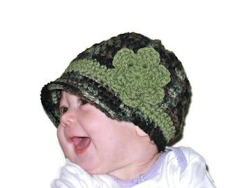 Toddler Girl Hat, Newborn Girl Hat, Newborn Newsboy, Toddler Newsboy, Camo Newsboy, Girls Camo Hat, Newborn Girl Brim Hat, Baby Shower Gift