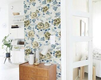 Rose self-adhesive peel and stick  vinyl Wallpaper - Flower pattern sticker C038