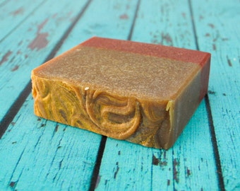Cedar & Saffron Goat Milk Soap, Homemade Men's Soap, Goat Milk Soap, Cold Process Soap, Homemade Soap, Artisan Soap