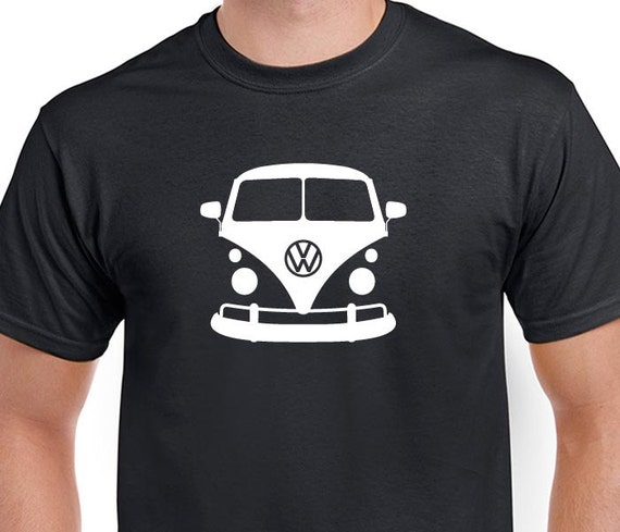 vw bus t shirt graphic volkswagen microbus tee by cluelesstees. Black Bedroom Furniture Sets. Home Design Ideas