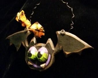 Whimsical Wooden Bat, Door knob Hanger