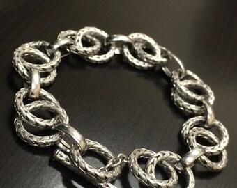 14K White Gold Bracelet - 14K Gold Link Bracelet - White Gold Bracelet - 14K Link Bracelet - 14K Gold Bracelet - Gold Minimalist Bracelet