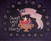 Sweet Land Of Liberty By All Through The Night Hand Embroidery Pattern Packet 2001