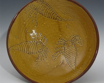 Earthenware eurypterid bowl