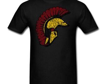 Trojan Helmet Vintage Style T-Shirt for Trojans Fans!
