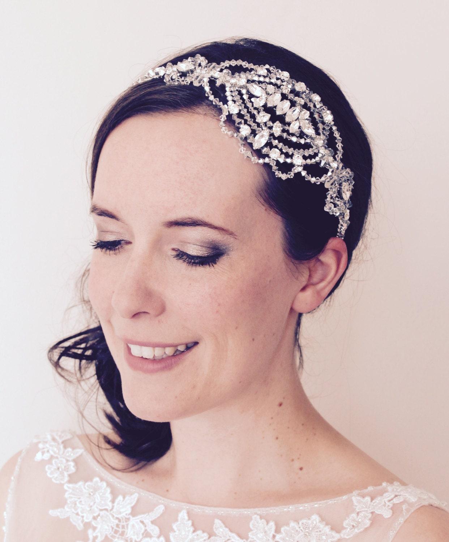 Crystal Wedding Headpieces: Bridal Headpiece Swarovski Crystal Wedding Headdress Bridal