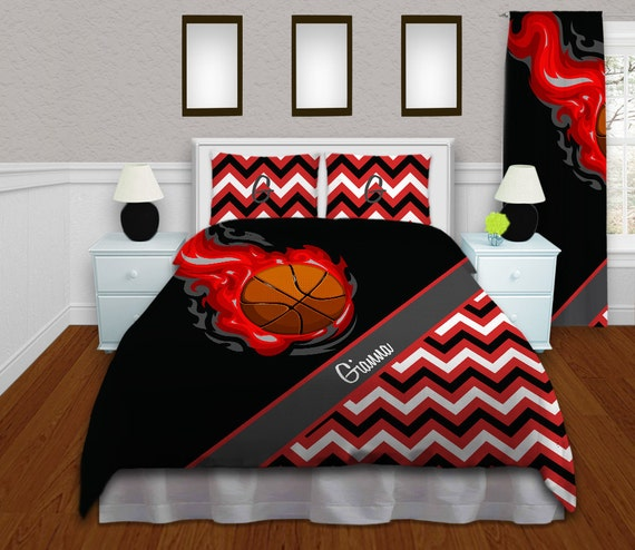Girls Basketball Duvet Cover Red Teen By Eloquentinnovations