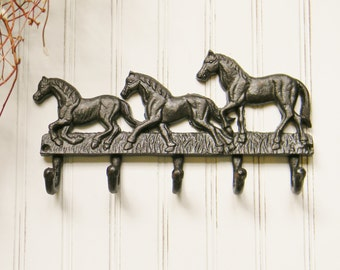 Wall Hooks,Horse Coat Hook,Decorative Coat Hook,Equestrian Decor,Cast Iron Coat Hook,Cast Iron Hooks,Cast Iron Wall Decor, Horse lovers Gift