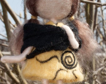 Needle felted sun girl decoration *READY TO SHIP*