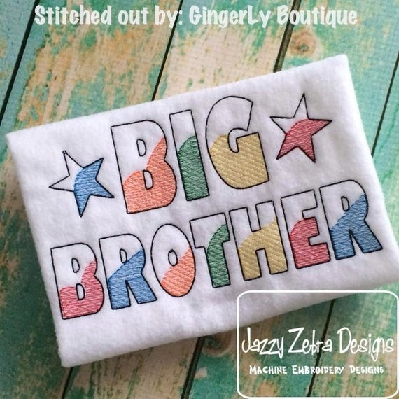 Big Brother Sketch Embroidery Design - brother Sketch Embroidery Design