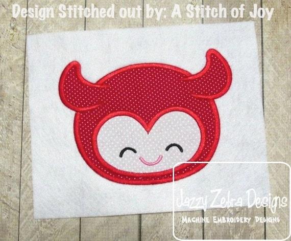 Devil Face Appliqué embroidery Design - devil Applique Design - Halloween Applique Design - mascot Applique Design - boy Applique Design
