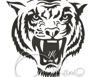 MACHINE EMBROIDERY DESIGN - Tiger 1