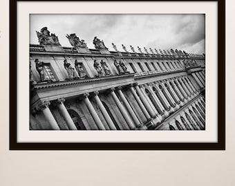 Paris Print, Versailles Palace, Paris Photography, Contemporary Art, Versailles Print, Black and White, Modern Art